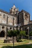 La catedral del SE de Evora, Portugal Imágenes de archivo libres de regalías