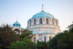 La catedral del trabajador de milagro de San Nicolás Fotos de archivo