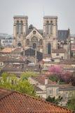 La catedral en la ciudad de Burdeos imágenes de archivo libres de regalías