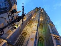 La catedral en la ciudad de mechelen fotografía de archivo