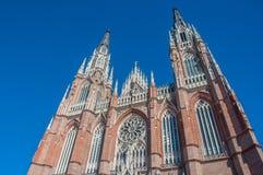 La catedral enorme de La Plata cerca de Buenos Aires, la Argentina foto de archivo libre de regalías