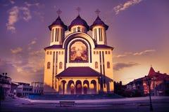 La catedral episcopal de la ciudad de Drobeta Turnu Severin Imagen de archivo libre de regalías