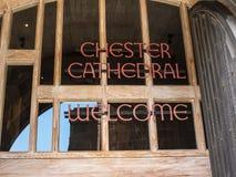 La catedral era antes la iglesia de la abadía del ` s del St Werburgh Su arquitectura data de la era normanda, con las adiciones  Imagenes de archivo