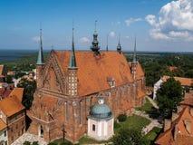 La catedral famosa vieja en Fromborg, Polonia Fotos de archivo