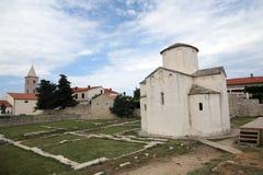 La catedral más pequeña del mundo en Nin, Croacia fotografía de archivo libre de regalías