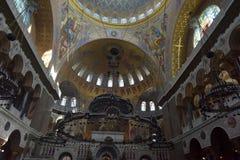La catedral naval de San Nicolás el Wonderworker - las construidos Imagenes de archivo