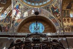 La catedral naval de San Nicolás la catedral naval de Wonderworker Nikolsky Stauropegic es la más grande de las catedrales del ma fotografía de archivo