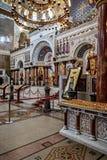 La catedral naval de San Nicolás la catedral naval de Wonderworker Nikolsky Stauropegic es la más grande de las catedrales del ma fotografía de archivo libre de regalías