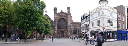La catedral o la iglesia de monasterio en Chester England Fotos de archivo libres de regalías