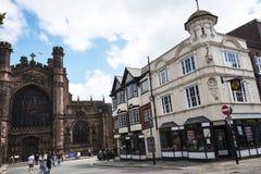 La catedral o la iglesia de monasterio en Chester England Fotos de archivo