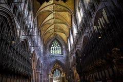 La catedral o la iglesia de monasterio en Chester England Imagen de archivo
