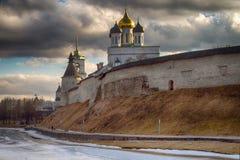 La catedral ortodoxa antigua Pskov, Rusia Imagenes de archivo