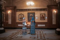 La catedral principal de la iglesia ortodoxa georgiana en Georgia Fotografía de archivo