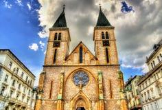 La catedral sagrada del corazón en Sarajevo Imagen de archivo libre de regalías