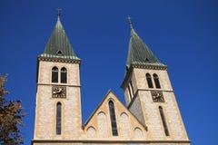 La catedral sagrada del corazón en Sarajevo, Bosnia y Herzegovina Imágenes de archivo libres de regalías
