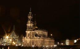 La catedral y el castillo de Dresden, en Sajonia, Alemania Foto de archivo