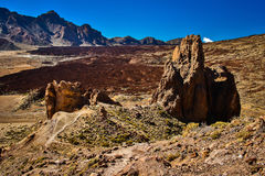 La Catedrala rock formation in El Teide NP, Tenerife. Canary Islands royalty free stock photo