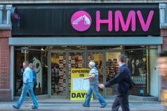 La catena del entartainment immagazzina i rilanci 'di HMV' in Irlanda. Fotografia Stock