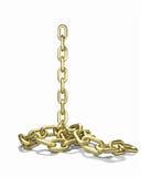La catena dell'oro cade Fotografie Stock
