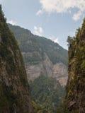 La catena delle alte montagne Fotografia Stock