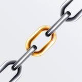 La catena ha impostato 2 Fotografia Stock Libera da Diritti