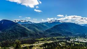 La catena montuosa della cascata BC nel Canada Fotografia Stock