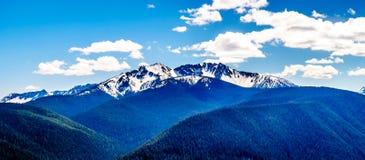 La catena montuosa della cascata BC nel Canada Fotografie Stock Libere da Diritti
