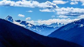 La catena montuosa della cascata BC nel Canada Fotografia Stock Libera da Diritti