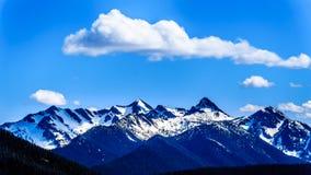La catena montuosa della cascata BC nel Canada Immagini Stock