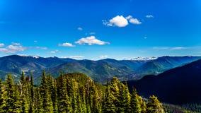La catena montuosa della cascata BC nel Canada Immagini Stock Libere da Diritti