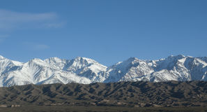 La catena montuosa delle Ande Immagini Stock