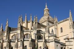 La cathédrale à Segovia photo libre de droits