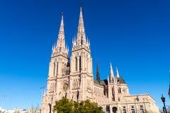 La cathédrale célèbre de Lujan Image stock