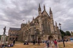 La cathédrale célèbre de Winchester en Angleterre Image stock