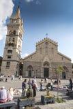 La cathédrale catholique de Duomo à Messine Photos libres de droits