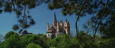 La cathédrale catholique de Limbourg images libres de droits