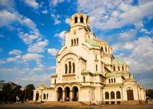 La cathédrale d'Alexandre Nevsky Images libres de droits