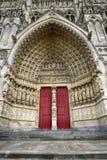La cathédrale d'Amiens est une cathédrale catholique Photos stock