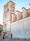 La cathédrale d'Ibiza Photo stock