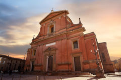 La cathédrale d'Imola Photos stock