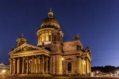 La cathédrale d'Isaac de saint à St Petersburg Photographie stock libre de droits