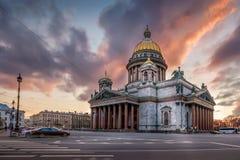 La cathédrale d'Isaac de saint photo stock