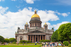 La cathédrale d'Isaac de saint dans le St Petersbourg, Russie Photo libre de droits