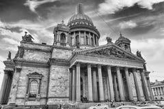 La cathédrale d'Isaac iconique de saint à St Petersburg, Russie Photos libres de droits