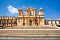 La cathédrale dans Noto, Sicile, Italie Images libres de droits