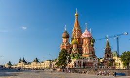 La cathédrale de Basil de saint dans la place rouge - Moscou Image libre de droits