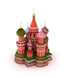 La cathédrale de Basil de saint sur le grand dos rouge à Moscou, Russie illustration libre de droits