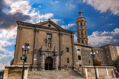 La cathédrale de basilique de notre Madame du pilier images libres de droits