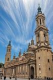 La cathédrale de basilique de notre Madame du pilier photo stock