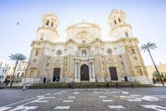 La cathédrale de Cadix a construit entre 1722 et 1838, Andalousie, Espagne Photographie stock libre de droits